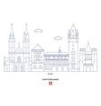 basel city skyline vector image vector image