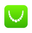 bead icon digital green vector image