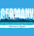 berlin germany city skyline silhouette vector image vector image