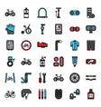 bicycle accessories vector image vector image