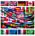 big flag background made world country flags vector image
