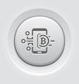 bitcoin wallet button icon vector image vector image