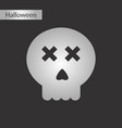 black and white style icon halloween emotion skull vector image vector image