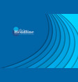 blue corporate wavy abstract background vector image