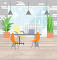 boss office interior in flat design view from the vector image
