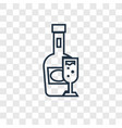 brandy concept linear icon isolated on vector image
