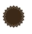 Brown circular badge icon