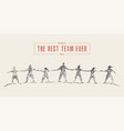 business people hold hands spirit best team vector image vector image