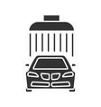 car washing glyph icon vector image