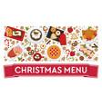 christmas menu restaurants or diner dishes vector image