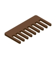Comb 3d isometric icon vector image vector image
