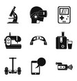 comfortable device icons set simple style vector image vector image