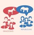 Concept of Debate Republicans and Democrats vector image vector image