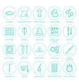 Contraceptive methods line icons birth control