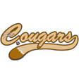 cougar logo vector image vector image