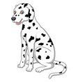 cute and adorable dalmatian dog sitting on floor vector image