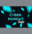 cyber monday sale background for good deal vector image