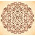 Decorative mandala in Indian mehndi style vector image vector image