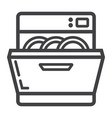 dishwasher line icon kitchen and appliance vector image vector image