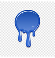 drip paint spot 3d isolated white transparent vector image