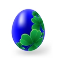 Easter eggs with decor elements vector image vector image