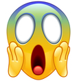 face screaming in fear emoticon vector image