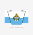 flag of san marino flat icon waving flag with vector image vector image
