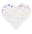 flask fireworks heart vector image vector image