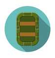 Flat design modern of raft icon camping hiking and vector image