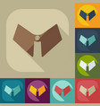 flat modern design with shadow icon male collar vector image vector image