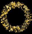 golden glitter confetti on a black background vector image