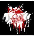 Graffiti crown vector image