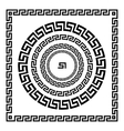Greek Ornament Circle ornament meander Round vector image vector image