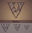 Halloween decorative alphabet - V letter vector image vector image