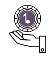 hand and music purple isolated icon design vector image vector image