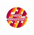 happy anniversary purple template design vector image