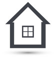 home line icon house symbol vector image