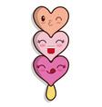 ice cream hearts vector image