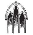 lancet window or wancet windows vintage engraving vector image vector image