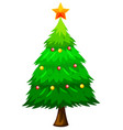 large green christmas tree vector image