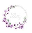 lavender wreath wedding frame watercolor floral vector image vector image