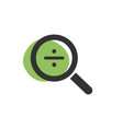 magnifying glass divide icon on white background vector image vector image
