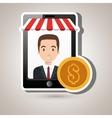 man online market money vector image