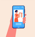 mobile gift service buy present phone digital vector image