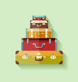 Mountain suitcases vector image vector image