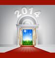 new year new dawn door 2014 vector image vector image