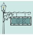 OK retro vintage street sign vector image vector image