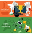 Online education and digital marketing vector image