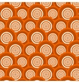 Pattern of orange circles vector image vector image