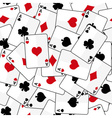 playing cards with four aces seamless pattern vector image